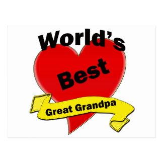 World s Best Great Grandpa Post Cards
