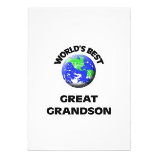 World s Best Great Grandson Announcement