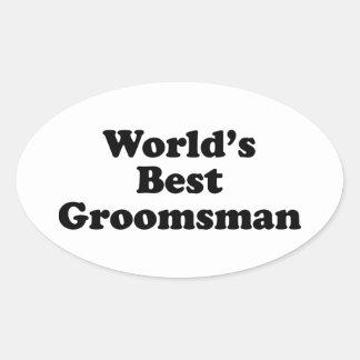 World s Best Groomsman Oval Stickers