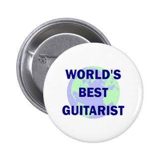 World s Best Guitarist Pinback Buttons