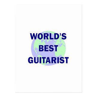 World s Best Guitarist Postcard