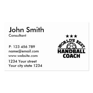 World's best Handball coach Pack Of Standard Business Cards