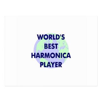 World s Best Harmonica Player Postcard
