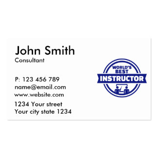 World's best instructor pack of standard business cards