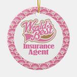 World's Best Insurance Agent Gift Ornament