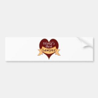 World s Best Lawyer Bumper Stickers