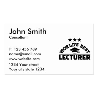 World's best lecturer pack of standard business cards