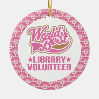 World's Best Library Volunteer Gift Ornament