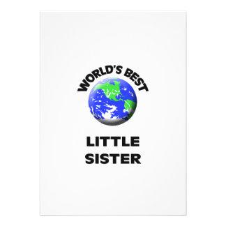 World s Best Little Sister Invites