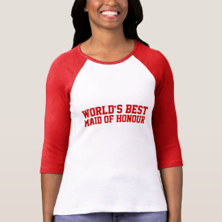 World s Best Maid of Honour UK T Shirts