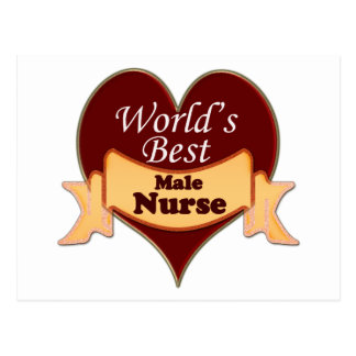 World s Best Male Nurse Postcards