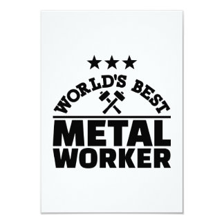 World's best metal worker card