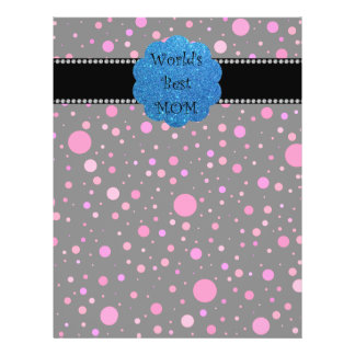 World s best mom pink polka dots personalized flyer