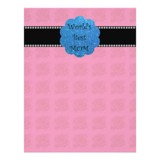 World s best mom pink roses personalized flyer