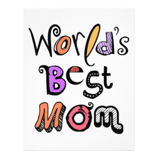 World s Best Mom Typography Full Color Flyer