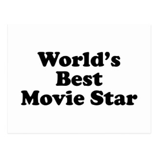 World s Best Movie Star Post Card