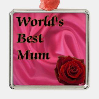 World,s Best Mum Christmas Ornament