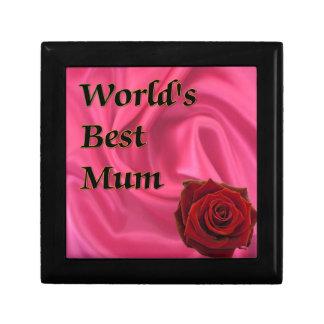 World,s Best Mum Small Square Gift Box