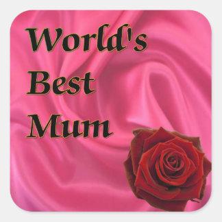 World,s Best Mum Stickers