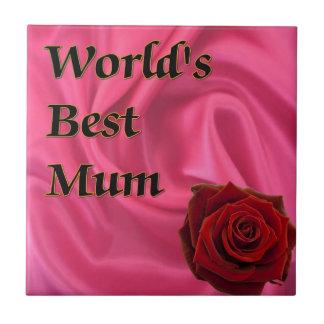 World,s Best Mum Tile