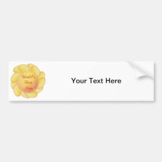 World s Best Mum yellow flower Bumper Stickers