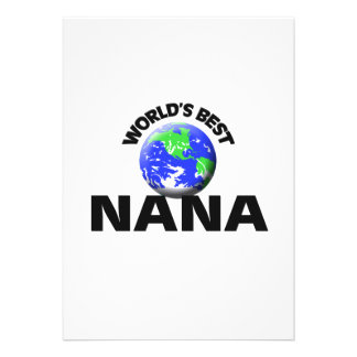 World s Best Nana Personalized Invites