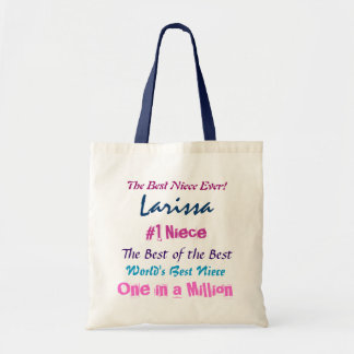 World s Best Niece Blue Pink Purple Canvas Bag