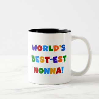 World s Best Nonna Bright Colors T-shirts and Gift Mug