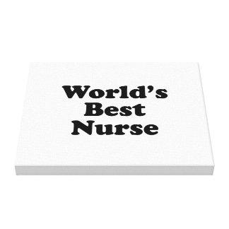 World s Best Nurse Gallery Wrap Canvas