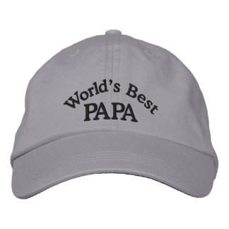 World s Best Papa Embroidered Hat