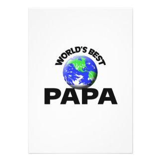 World s Best Papa Custom Announcement