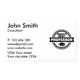 World's best professor pack of standard business cards