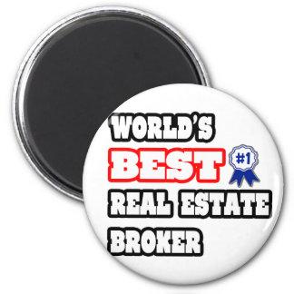 World s Best Real Estate Broker Fridge Magnets