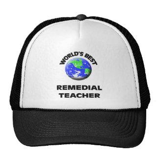 World s Best Remedial Teacher Mesh Hat