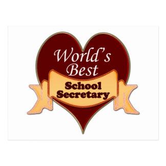 World s Best School Secretary Post Cards