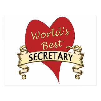 World s Best Secretary Post Card