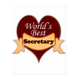 World s Best Secretary Postcards