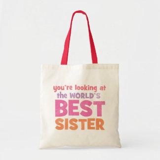 World s Best Sister Bag