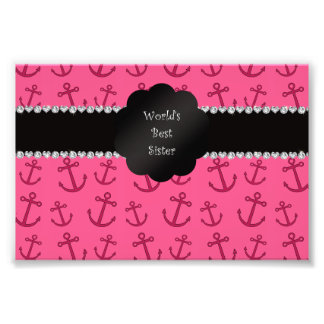 World s best sister pink anchors photo