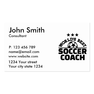 World's best soccer coach pack of standard business cards