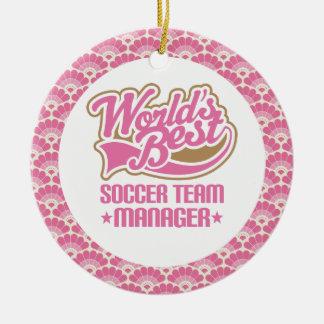 World's Best Soccer Team Manager Gift Ornament