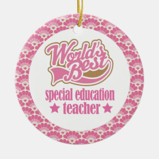 World's Best Special Education Teacher Gift Christmas Ornament