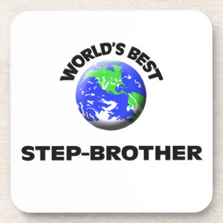 World s Best Step-Brother Beverage Coasters