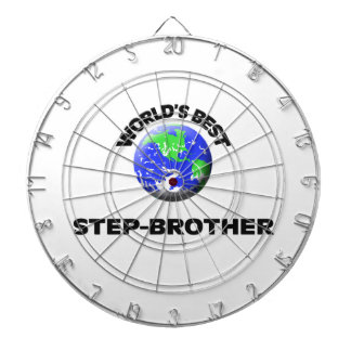 World s Best Step-Brother Dartboard With Darts