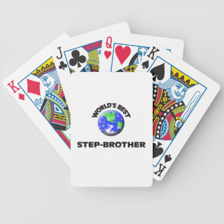 World s Best Step-Brother Bicycle Card Deck