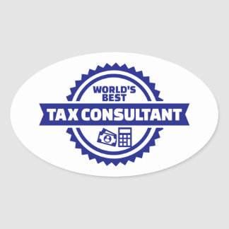 World's best tax consultant oval sticker