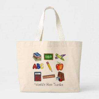 World s Best Teacher Bags