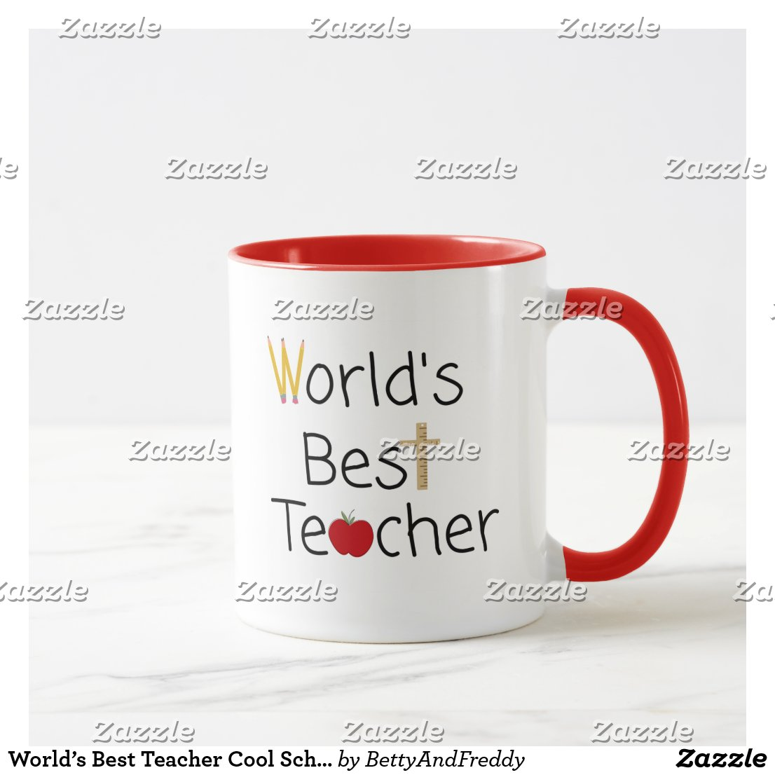 World's Best Teacher Cool School Supplies Mug