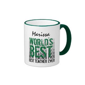 World s Best Teacher Custom Name Ver 8 M008 Mugs