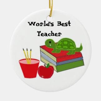 World s Best Teacher Christmas Tree Ornaments